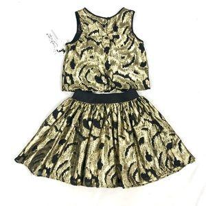 28a6b16e27a8 Pippa & Julie Matching Sets - Pippa & Julia girls Christmas skirt top outfit